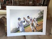 Rare Chicago Cubs Photo 30x40 From The Cubs Clubhouse -locker Room Authenticated