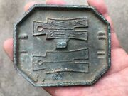 3.6 Old China Bronze Dynasty Circulate Currency Coin Copper Money Mould 009