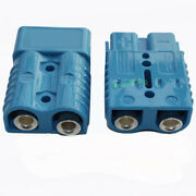 Pair Battery Quick Connect Plug Disconnect Blue 2pcs 175amp 1/0 Awg Wire Lead