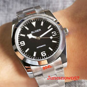 Nh35a 36mm Polish Automatic Men Watch Snowflake Hand Glide Lock Oyster Band