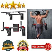 Pull Up Bar Wall Mount Power Tower Set Chin Up Station Home Gym Workout Fitness