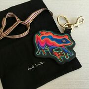 Paul Smith Leather Psychedelic Dreamer Frog Keyring Fob Bag Charm With Dustbag