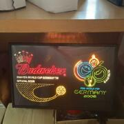 Unused 2006 Budweiser Germany World Cup Official Fiber Optic Neon Sign