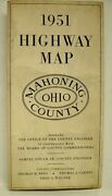 Vintage 1951 Highway Map Mahoning County Ohio