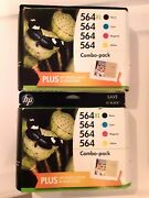 Lot Of 2 Genuine Hp 564 Combo-pack Black Xl Tri-color Ink Cartridge New Exp 2017