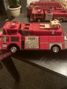 1986 Vintage Hess Truck Toy Fire Truck Bank No Box For The Truck Lot Of 2