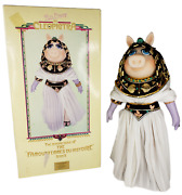 Vintage Miss Piggy Muppet Cleopigtra China Doll W/box Limited Edition Jim Henson