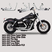 Fit For Harley Dyna 2012-2016 Switchback Fld C1 Dual Pipes Muffler Exhaust