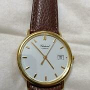 Used Chopard Geneve Antique Wristwatch 750 Engraved Belt External Products