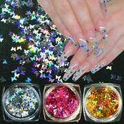 Nail Glitter Sequins Holographic Laser Butterfly Flakes Nail Art