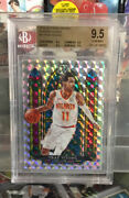 Trae Young Bgs 9.5 Gem Mint Stained Glass Prizms 2nd Yr Rc 2019-20 Panini Mosaic