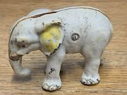 Cast Iron Elephant Coin Bank Vintage Toy