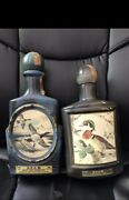 Vintage Whiskey Decanters Canvasback Ducks And Woodducks Set Of 2