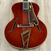 D'angelico Daestbtbviogt Excel Style B Throwback Guitar, Ebony, Viola B-stock