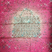 Used Hermes Magic Kelly Curry Scarf 90 Size Silk Pink Color Exhibit Untagged