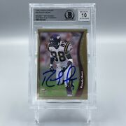 Randy Moss Signed Autographed 1998 Topps Chrome 35 Rc Card Beckett Bas 10 Auto
