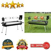 Portable Spit Rotisserie Bbq Charcoal Grill Outdoor Cooking Patio Backyard Party