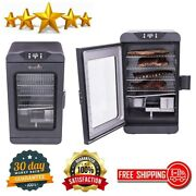 Digital Electric Smoker Large 725 Square Inch Cooking Surface Deluxe Black Grill