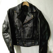 Langlitz Leathers Blk/tl-390010 Riders Leather Jacket