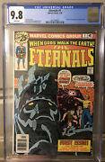 Eternals 1 Cgc 9.8 White Pages Newsstand 1st Appearance 1976 Mcu Movie Soon