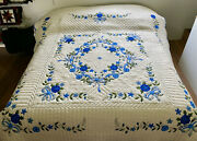 Amish Quilt For Sale Country Garden Applique Amish King Or Amish Queen Quilt