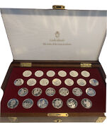 1988 Cook Islands The Coins Of The Great Explorers Sterling Silver Frankin