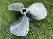 38 X 50 Authentic 3 Blades Boat Propeller 300 To 350 Lbs Heavy