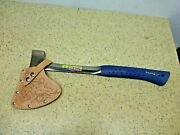 New Estwing Camp Axe Hatchet W/ Leather Sheath