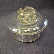 Vintage Corning Pyrex 441 Glass Electrical Insulator Clear Made In Usa