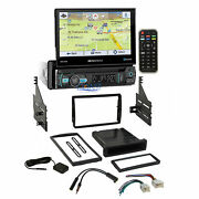 Soundstream Flip Out Dvd Gps Stereo Dash Kit Harness For 2005-06 Nissan Altima