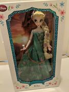 Disney Store Frozen Fever Elsa Limited Edition Doll 17 Brand New