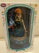 Disney Store Frozen Fever Anna Limited Edition Doll 17 Brand New