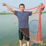 Hand Casting Landing Net Portable Folding Trap With Sinkers Fishing Tools