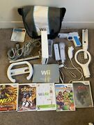 Nintendo Wii Lot W/ Games Controllers Case Extras Zelda Sonic Sd Card 1gb
