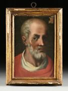 18th Century French School Oil On Canvas Portrait Icon Painting