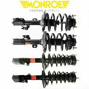 Monroe Set Of 4 Front Rear Quick Struts And Coil Spring For 2007-2011 Camry Se