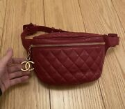 Coco Mark Cc Vintage Matelasse Quilted Red Fanny Bum Bag Waist Bag 65 26andrdquo