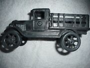 Original Cast Iron Art Jm138 Stake Bed Stakebed Truck Ford