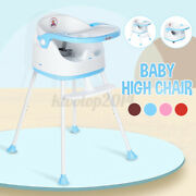 Kid Baby High Chair Table Dining Seat Feeding Chair Seat With Tray And Wheels