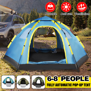 Instant Popup Tent Family Camping Tent 5-8 Person Portable Tent Automatic Tent W