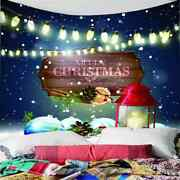 Beautiful Lights Snowflakes 3d Wall Hang Cloth Tapestry Fabric Decorations Decor
