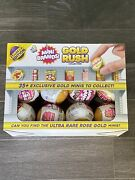 Mini Brands Gold Rush Rose Gold Surprise Toy Capsule Ball New Lot Of 12 Rare