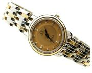 Wrist Watch Omega De Ville 4370.16 Womenand039s Analog Champagne Silver Quartz Used