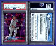Psa 9 2018 Topps Chrome Update Pink Refractor Gleyber Torres Rc Yankees A2800