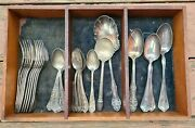 Wm A. Rogers Antique 20pc Silverware Collection From 1847 - 1910