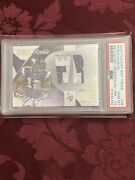 2009 National Treasures Percy Harvin Rookie Colossal Patch Auto /10 Psa 10 Pop 1
