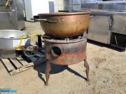 Savage Bros No.22 Burner Gas Candy Stove Copper Kettle Item 8788