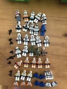 Lego Star Wars Minifigures Huge Lot Clone Troopers Variety Incomplete Guns Used