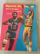 Sports Illustrated 1973 Jerry West Walt Frazier Label Removed