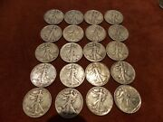 10 Face Value Walking Liberty Silver Half Dollars 20 Coins Includes 1941-47